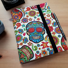 Sugar Skulls Notebook Cover with Elastic Closure