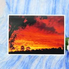 Sunset Landscape Photo on Blank Card