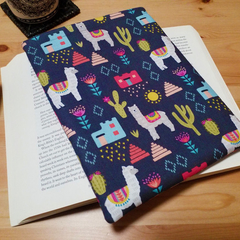Alpaca // Llama Fabric Padded Book Sleeve