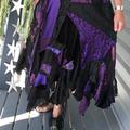 Black & Purple Bohemian Gypsy Skirt - OOAK Size 14 - 18 - Plus Size Boho Skirt