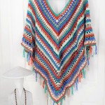Multi Coloured Poncho