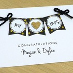 Personalised Wedding card Mr & Mrs / Mr & Mr / Mrs & Mrs