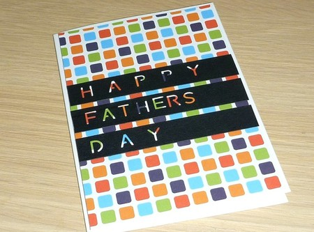 Fathers Day card - coloured print