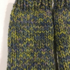 Stunning child blue green rainbow fingerless gloves hand warmers boys or girls