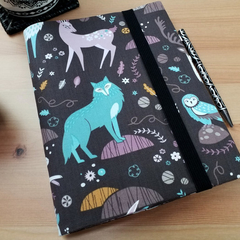 Arctic Fox A5 Journal Cover with Elastic Closure