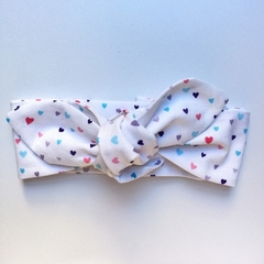 Adults and Kids headband - unicorn kisses! Soft cotton tie up headband