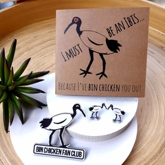 Bin Chicken (ibis) Lovers Pack // Studs, Brooch or Magnet & Card // Free Post