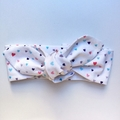 Adults and Kids headband - unicorn kisses! Soft cotton tie up headband