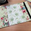Vintage Roses A5 Journal Cover with Elastic Closure