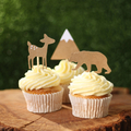 Woodland friends cupcake toppers