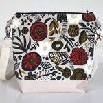 Satchel bag in Japanese cotton linen fabric