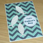 Fathers Day card - 3 fish