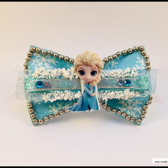 Disney Queen Elsa from Frozen Hair Bow with Barrette Snap Clip.