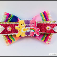 Care Bears Hair Bow with Barrette Snap Clip.