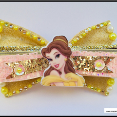 "Disney Princess Belle from 'Beauty and the Beast"" with colour matching Barrette"