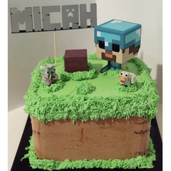 Personalised Minecraft Cake Topper