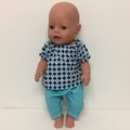 Dolls Peasant Top and Pants to fit Baby Born and Cabbage Patch