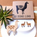 Llama Lovers Gift Pack // Studs, Brooch & Card // Cute // Free Post