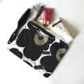 Marimekko Unikko Black make up bag or wet bag