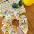 The Devonport Scrunchie in Make Lemonade print.