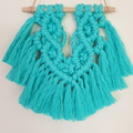 Small Aqua Macrame Wall Hanging