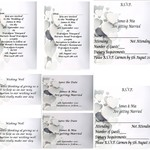 Silver Hearts Printed Wedding Stationary Package