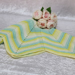 Yellow, Aqua and White Star Blanket
