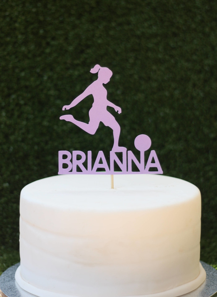 f31102e829db0 Personalised soccer player cake topper | Kaivalya Designs on Madeit