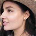 Love heart studs - small earring studs - eco friendly laser cut wooden earrings