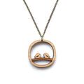 Bird necklace - laser cut wooden jewellery - bird pendant necklace - Australia