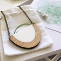 Casual necklace - minimal necklace - eco friendly jewelry - necklace for weekend