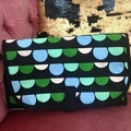 """""""Green bunting"""" Baby travel change mat, nappy wallet clutch."""
