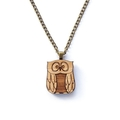 Owl necklace - laser cut jewellery made with eco friendly wood - owl jewelry - o