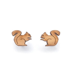 Squirrel earrings - animal earrings - squirrel jewelry - made in Australia - cut