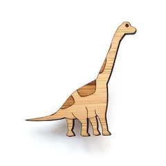 Dinosaur brooch - Brachiosaurus brooch - eco friendly lasercut wooden australian