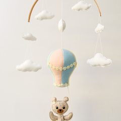 Hot Air Balloon, Teddy Swing~  baby mobile
