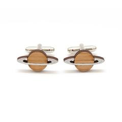 Cufflinks - Planet cufflinks - Wood Cufflinks - nerd gift - 5 year anniversary -