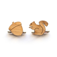 Cufflinks - Wedding cufflinks - Wood Cufflinks - Groom Wedding - lasercut wooden