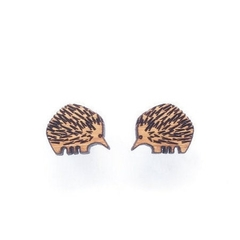 Echidna earrings - Australian animal studs - Australian gift idea - australiana