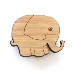Brooch - Elephant brooch - elephant jewelry - elephant badge - wooden badge