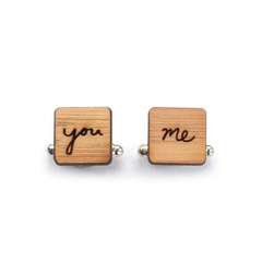 Eco wedding cufflinks - Groom cufflinks - Wedding Cufflinks - 5 year anniversary
