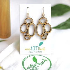 Drop earrings - Abstract dangle earrings - wooden earrings - Hypoallergenic earr