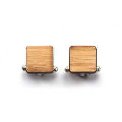 Wooden cufflinks - Groom cufflinks - Wedding Cufflinks - 5 year anniversary - cu