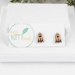 Rocket stud earrings - space themed jewellery - rocket ship earrings jewellery,