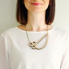 Abstract necklace for work - made in Australia - necklaces for women - wooden ne