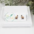 Llama stud earrings - llama jewellery - Llama earrings - funny llama themed gift