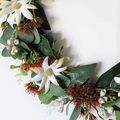 Artificial Australian Native Flower Wreath