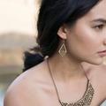 Geometric earrings - dangle earrings - drop earrings- earrings for work - wooden