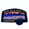 Road to Nowhere Embroidered Patch Iron on Patches for Jackets, Talking Heads Tra