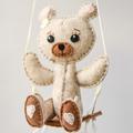 Hot Air Balloon, Teddy Swing~  baby mobile